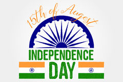 Indian independence day greeting card, poster, flyer. Patriotic banner for website template. 15th August typographic design. Vecto Royalty Free Stock Images