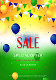 Indian Independence Day sale flyer Royalty Free Stock Images