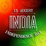 Indian independence day. Stylish indian independence day background design Royalty Free Illustration