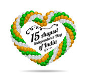 Indian Independence Day vector background Royalty Free Stock Images