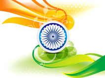 Indian Independence Day Wave Abstract Background With Bubble Stock Image