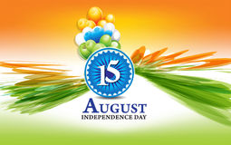 Indian independence day wave background with explode Stock Images