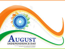 Indian independence day wave background Royalty Free Stock Photography