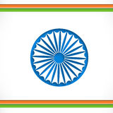Indian Independence and Republic Day celebration with Ashoka Whe Stock Photo