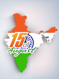 Indian Indpendence Day Background Stock Photo