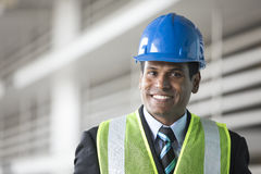 Indian industrial engineer at work. Stock Photos