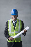 Indian industrial engineer at work. Royalty Free Stock Photography