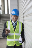Indian industrial engineer at work. Stock Images