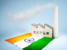 Indian industry development Stock Image