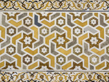Indian inlay. Mural done with marble inlays, North India Stock Photo