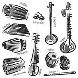 Indian instruments Stock Image