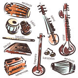 Indian instruments Stock Photos