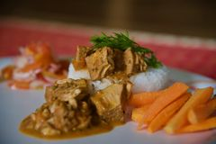 Indian jackfruit curry royalty free stock images