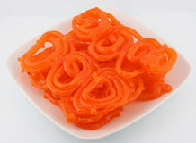 Indian Jalebi In A Plate Royalty Free Stock Photography