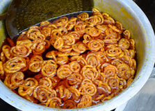 Indian Jalebi Royalty Free Stock Photography