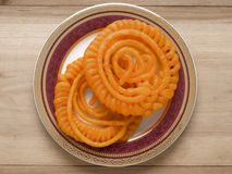 Indian jalebi sweets. Close up of indian jalebi sweets royalty free stock image
