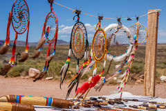 Indian jewelery. Indian jewelery in southern Arizona. An unmistakable place for tourists from all over the world stock photo