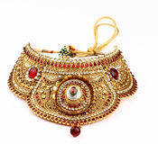 Indian jewelry. Isolated on a white background Royalty Free Stock Photo