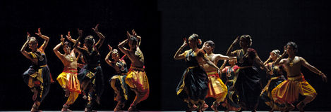 Indian Kalakshetra dancers Royalty Free Stock Photography