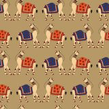 Indian Kalamkari Camel seamless pattern royalty free illustration