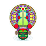 Indian kathakali dancer face Royalty Free Stock Photography