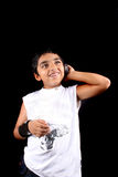 Indian Kid on Phone Royalty Free Stock Photos
