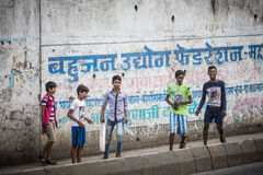Indian Kids Playing Royalty Free Stock Photography