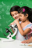 Indian kids and science Stock Photo