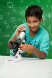 Indian kids and science Royalty Free Stock Photography