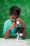 Indian kids and science Stock Images