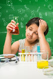 Indian kids and science Stock Image
