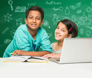 Indian kids and science Royalty Free Stock Images