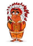 Indian. Kind cute vector american indian Royalty Free Stock Images