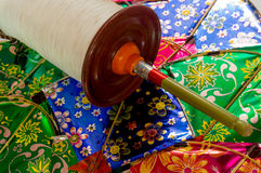 Indian kites and spool for kite fighting. Indian kites and spool used in the very popular sport of kite fighting. These are traditionally used on Makar Sankranti Royalty Free Stock Photo