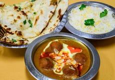 Indian Kofta Curry meal Stock Photos