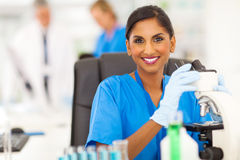 Indian lab technician Stock Photography