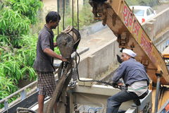 Indian laborer Stock Photography