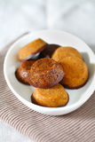 Indian Laddu chickpea gluten-free cookies with chocolate Royalty Free Stock Photo
