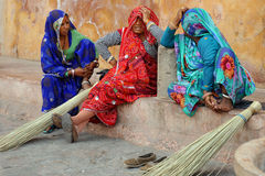 Colourful Indian ladies. Rajasthan, India. Stock Image