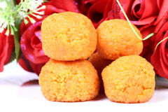Indian ladoo sweet Stock Image