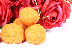 Indian ladoo sweet Royalty Free Stock Photo