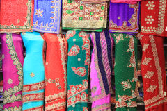Indian lady dresses. Colorful women dresses in India up for sale royalty free stock photography