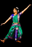 Indian Lady performing a Bharatanatyam Dance Stock Photography