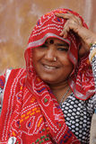 Indian lady. Rajasthan, India. Royalty Free Stock Image