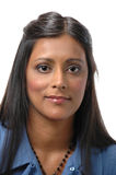 Indian lady smiling Royalty Free Stock Image