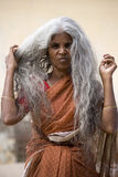Indian lady in southern India Stock Photos