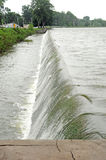 Indian lake spillway russels point ohio Stock Photo