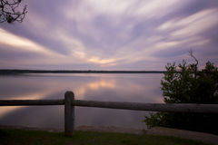 Indian Lake Sunset Royalty Free Stock Photography