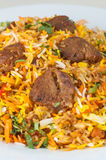 Indian lamb risotto or biryani royalty free stock images