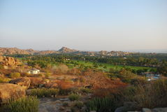 Indian Landscape, Hampi, Karnataka Royalty Free Stock Photography
